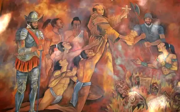 Diego de Landa burnt codeces