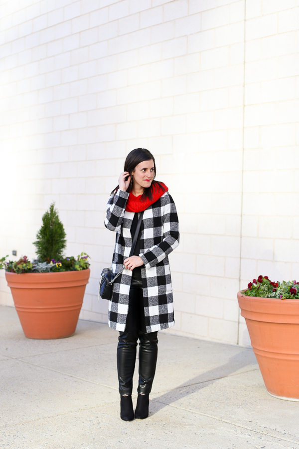 Naturally Me, Holiday Outfit Idea, How to Wear A Plaid Coat for the Holidays, What to Wear for Christmas