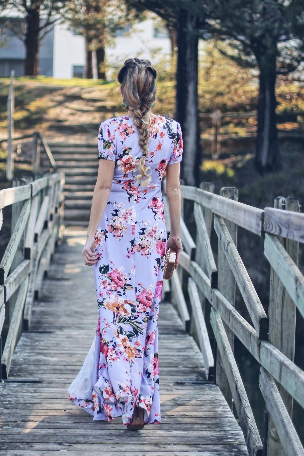 vestido flores para boda