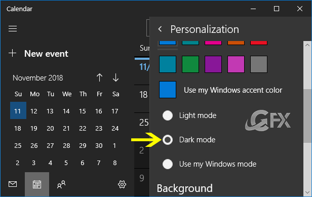 Windows 10 dark theme for mail app- www.ceofix.net