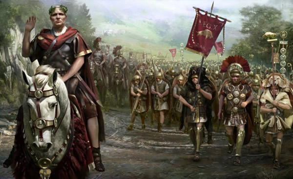 Julius Caesar's legions in Gallic war