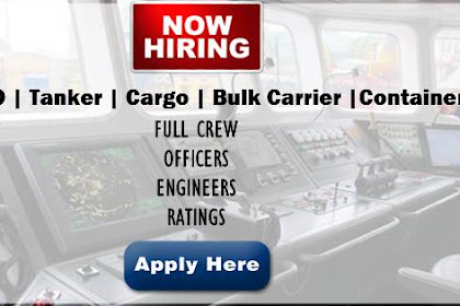 Urgent Crew For Bulk, RORO, Tanker, Container Vessels (Philippines)