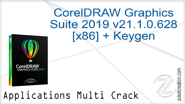 CorelDRAW Graphics Suite 2019 v21.1.0.628 [x86] + Keygen   |  728 MB