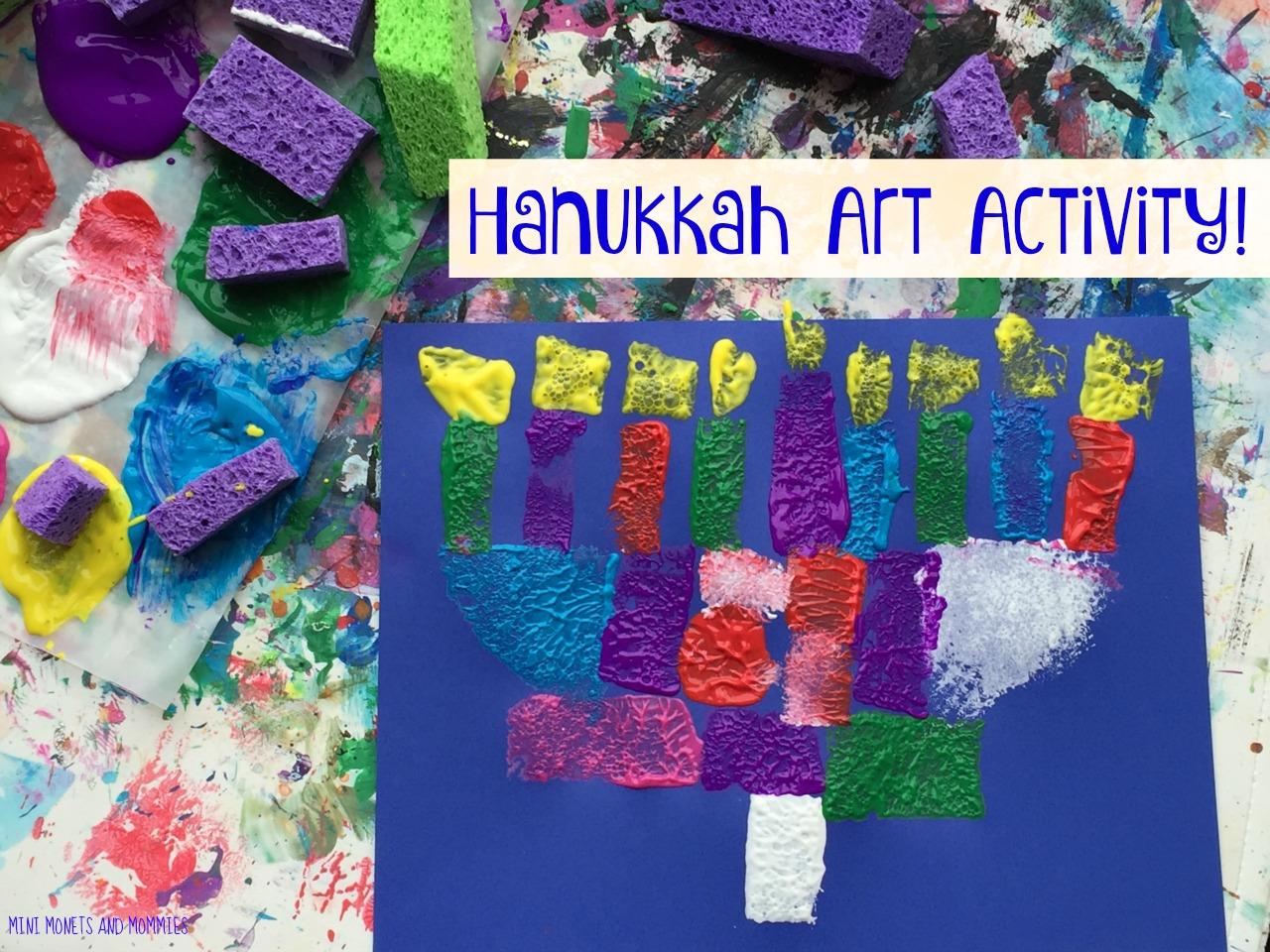 Mini Monets And Mommies Hanukkah Kids Craft Sponge