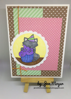 Jennifer's card features Newton Loves Cake by Newton's Nook Designs; #newtonsnook