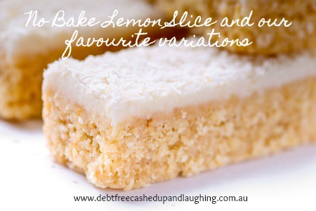 No Bake Lemon Slice and our favourite variations a budget and family friendly easy to make no bake slice. Click through to get the recipe