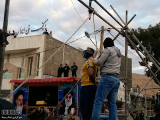 Two men were hanged in public in Sarpol-e Zahab, Iran, on Jan. 8, 2017.