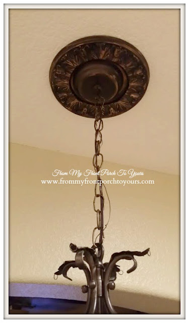 French Chandelier Makeover-Before-Chalk Paint- From My Front Porch To Yours