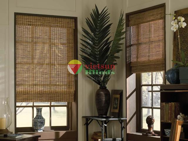 Mành tre trúc trang trí tăng sự ấm cúng và sang trọng cho gia chủ.