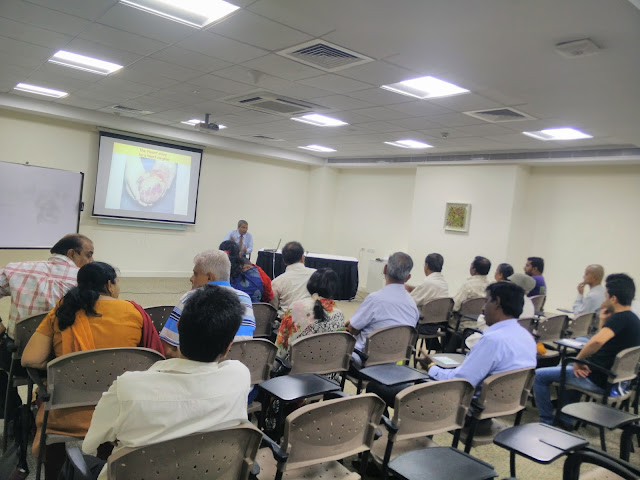Dr. Manoj Agny, Consultant Cardiovascular & Transplant Surgeon, Columbia Asia Hospital addressing the cardiac support group.