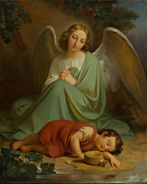 Guardian Angel Protecting Children