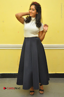Telugu Actress Sindhu Affan Latest Pos in Black Skirt at Www.Meena Bazaar Movie Opening  0049.JPG