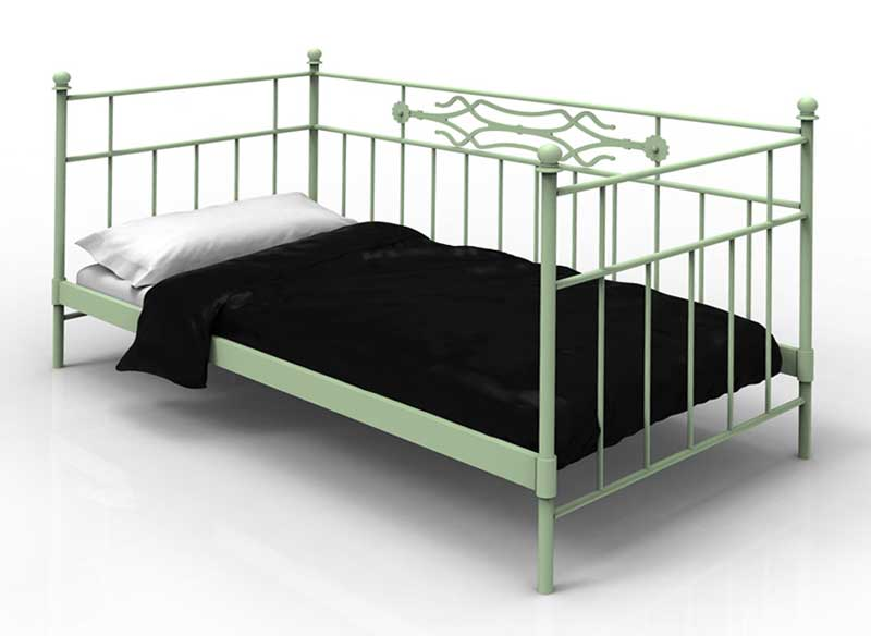 Muebles de forja sofas cama con divan en forja for Cama divan 90