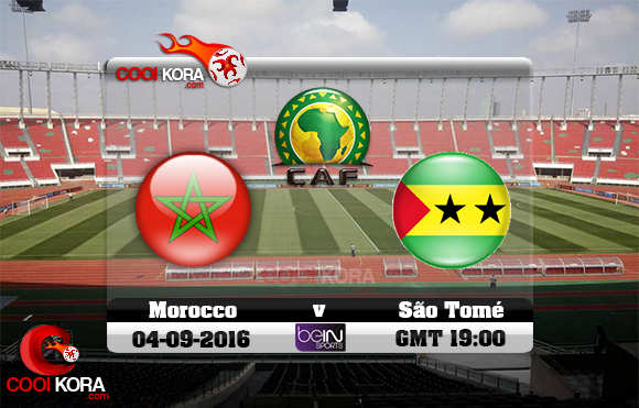 مشاهدة مباراة المغرب وساوتومي اليوم 4-9-2016 تصفيات كأس أمم أفريقيا