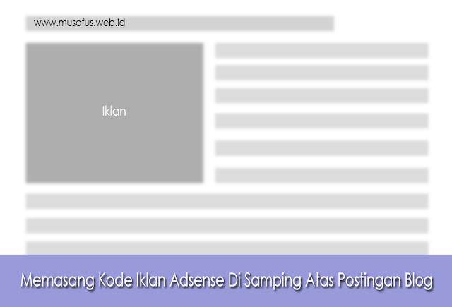 Memasang Kode Iklan Adsense Di Samping Atas Postingan Blog