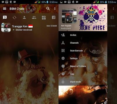 Download BBM MOD Portgas D Ace v3.2.0.6 APK Transparan Theme Terbaru