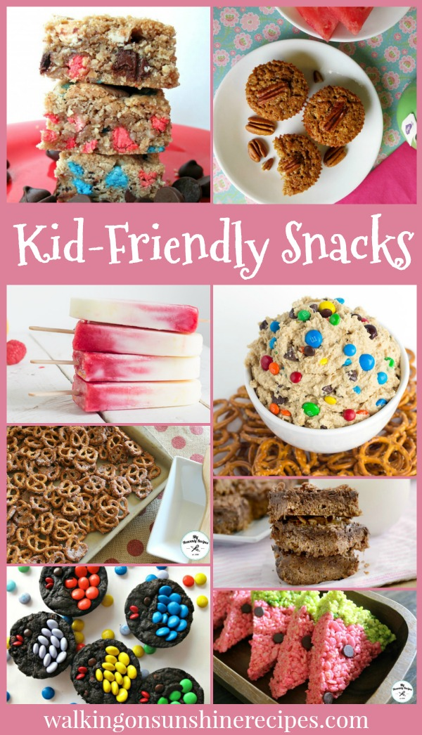 Kid-Friendly Snacks are featured this week with our Delicious Dishes Recipe Party from Walking on Sunshine.