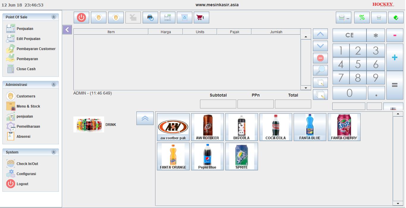 Software aplikasi kasir lengkap