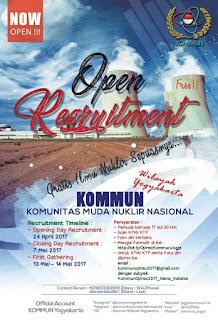 OPEN RECRUITMENT KOMMUN YOGYAKARTA 2017