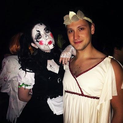Michelle Trachtenberg en poupée de porcelaine Halloween 2014