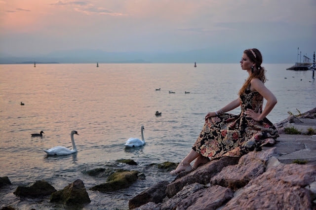 фотосессия в италии в платье блогер Ninelly