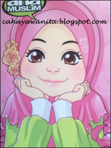 710 Gambar Kartun Keluarga Muslim Bercadar HD Terbaru