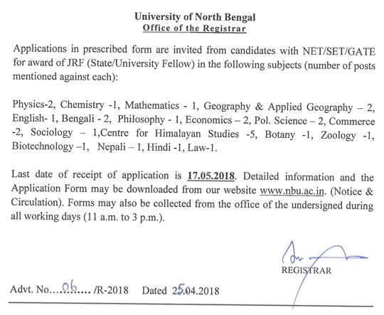 helpBIOTECH: University North Bengal Biotech/Botany/Zoology