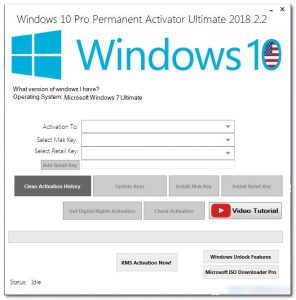 Windows 10 Pro Permanent Activator