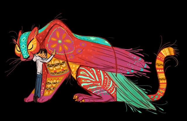 Pixar Coco Pepita and Miguel Concept Artwork