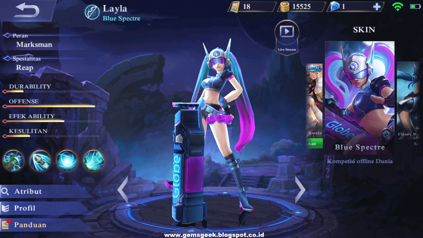 Layla Mobile Legends Very Dangerous Hero Beginner GemsGeek