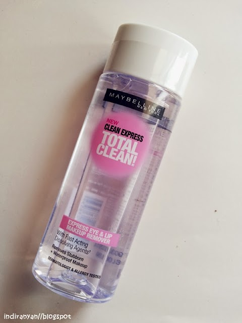 [REVIEW] Maybelline : Total Clean - Express Eye & Lip Makeup Remover