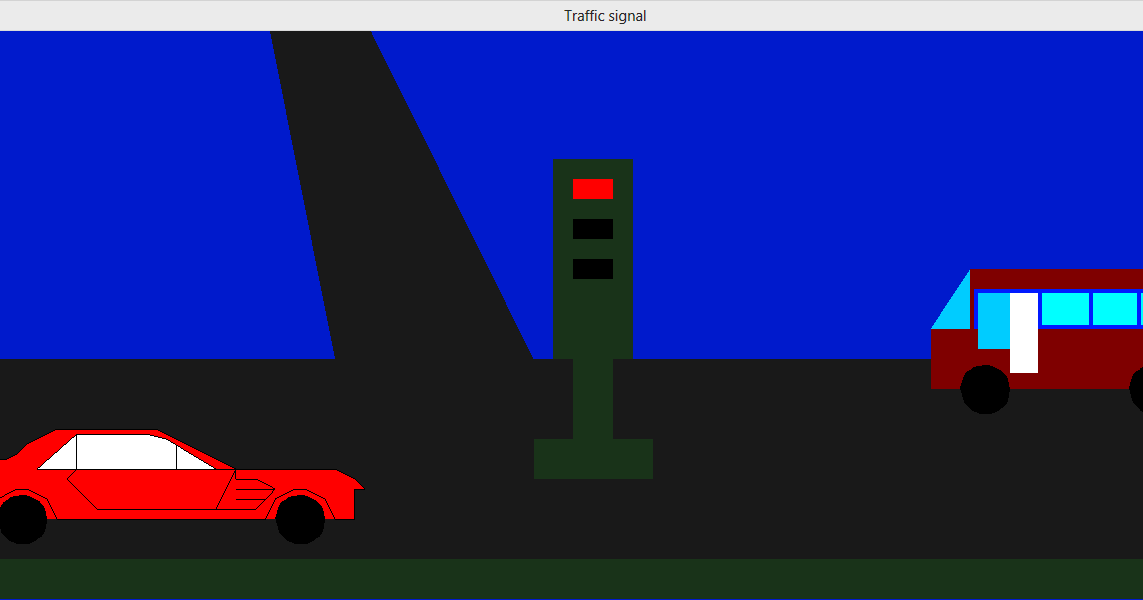 Line Drawing Algorithm Using Opengl : Opengl code traffic signals projects