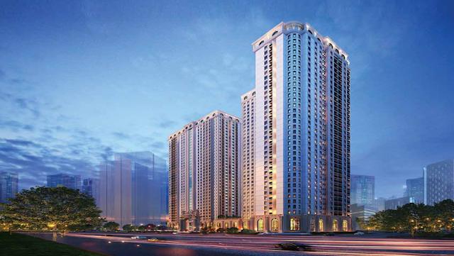 Phối cảnh khu chung cư cao tầng tại phân khu Larissa