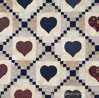 Irish Chain Hearts made by Gloria