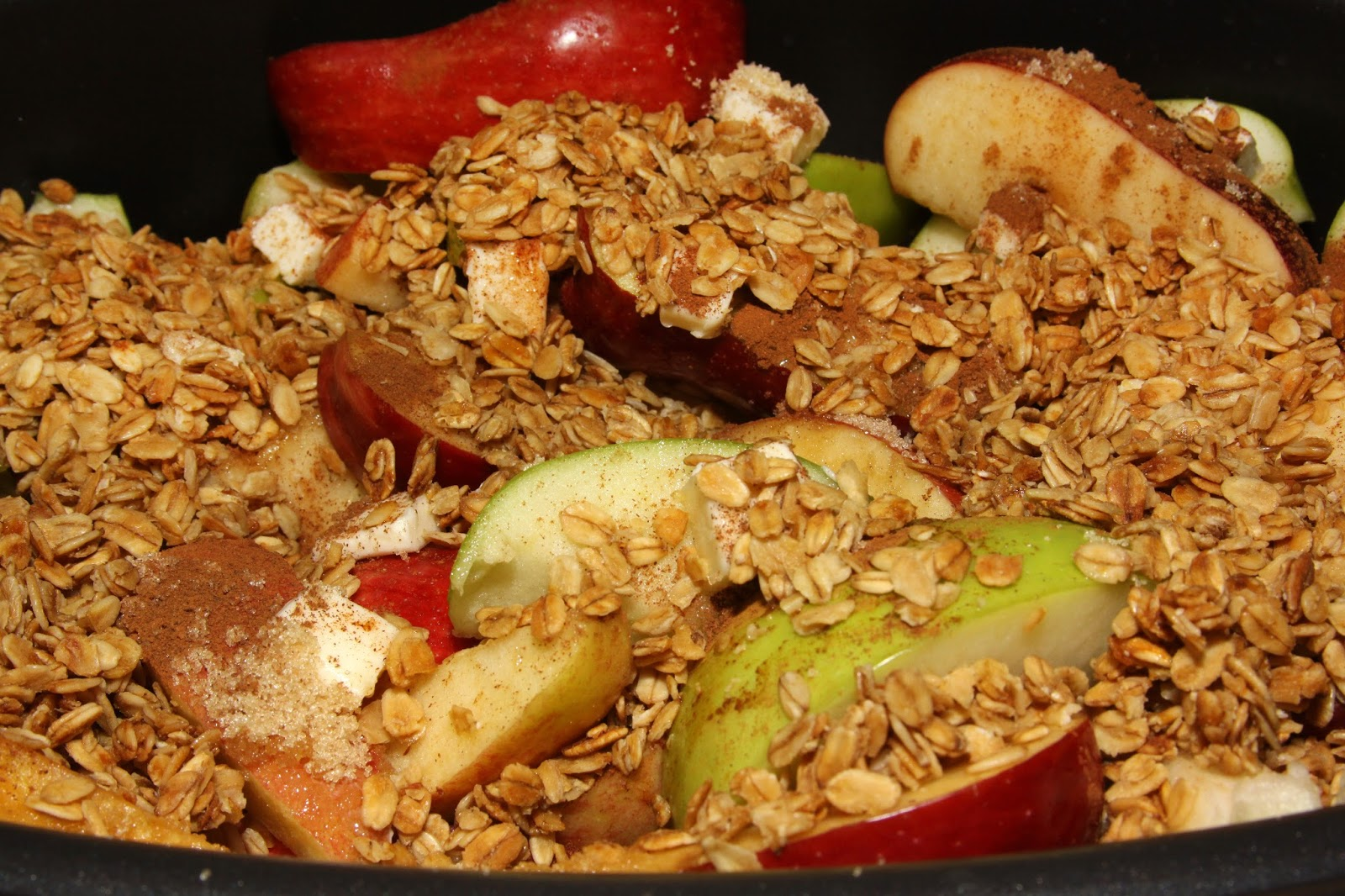 For the Love of Food: Crock-Pot Overnight Breakfast Apple Crisp