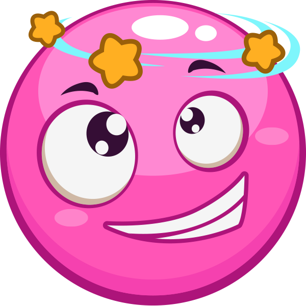 Knocked Out Pink Smiley