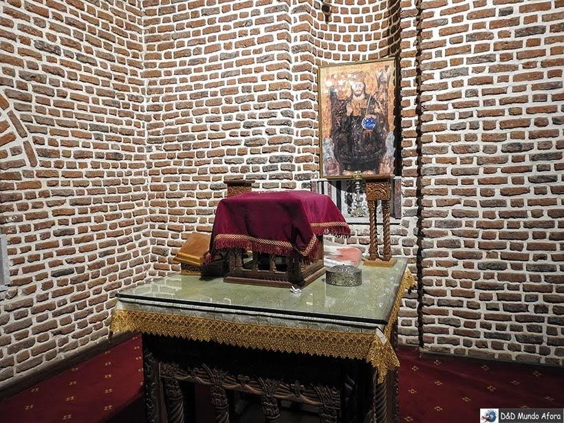 Ícones na igreja Igreja de Abu Sarga no Cairo Copta