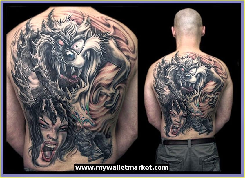 Aero Full Back Shoulder Tattoo Designs for Men. | Tattoos Designs Ideas