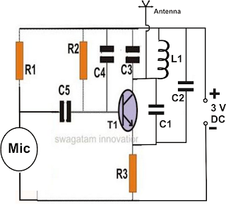 How to Make Spy Bug Transmitter Circuit ~ Electronic