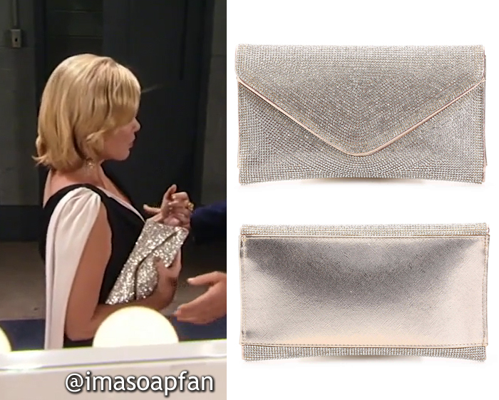 Ava Jerome, Maura West, Rhinestone Envelope Clutch, Lulu Townsend, Nurses Ball, GH, General Hospital, Season 55, Episode 05/25/17