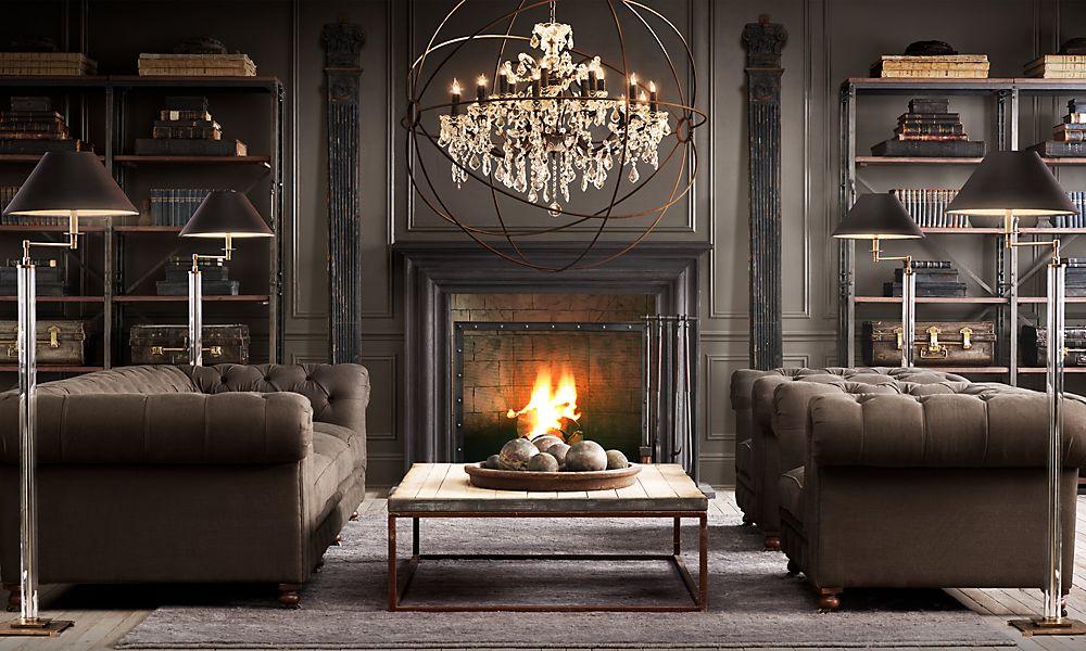 Brown Leather Sofa Color Restoration Velvet Tufted Australia A Designer + Contractor: Rustic-ly Glam