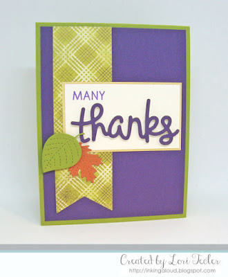 Many Thanks card-designed by Lori Tecler/Inking Aloud-stamps and dies from Lawn Fawn