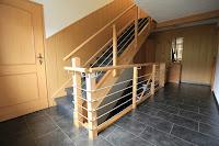 Treppenrenovierung - Brüstungs-Geländer mit Edelstahl-Traversen