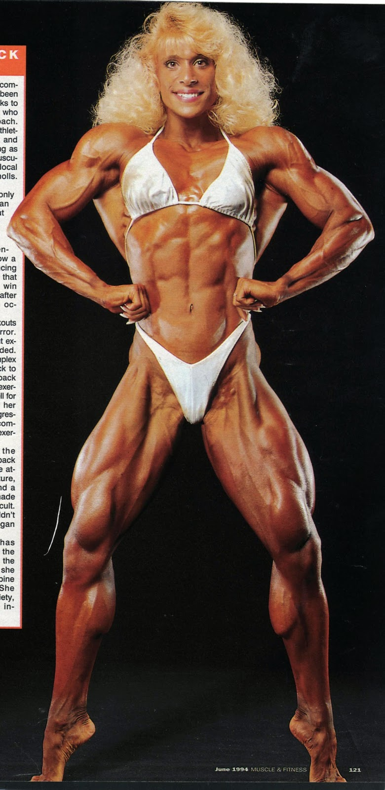 Kim Chizevsky is an American professional female bodybuilding