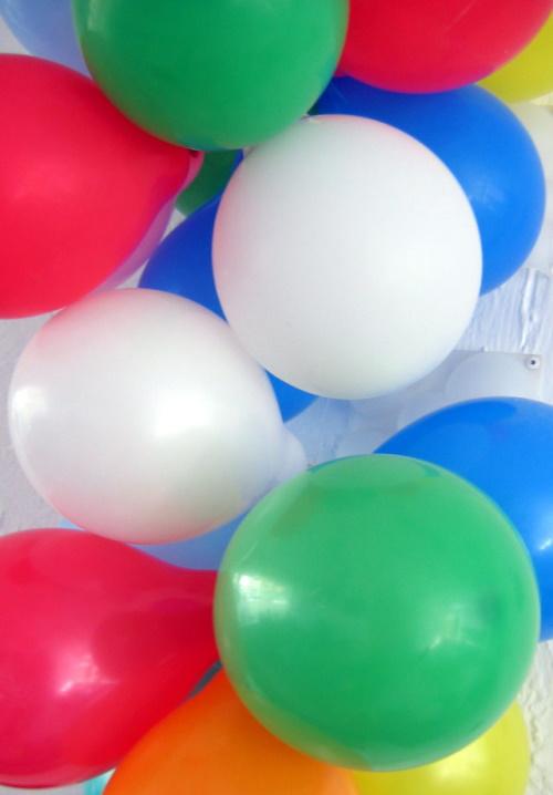 Balões de aniversário. #PraCegoVer