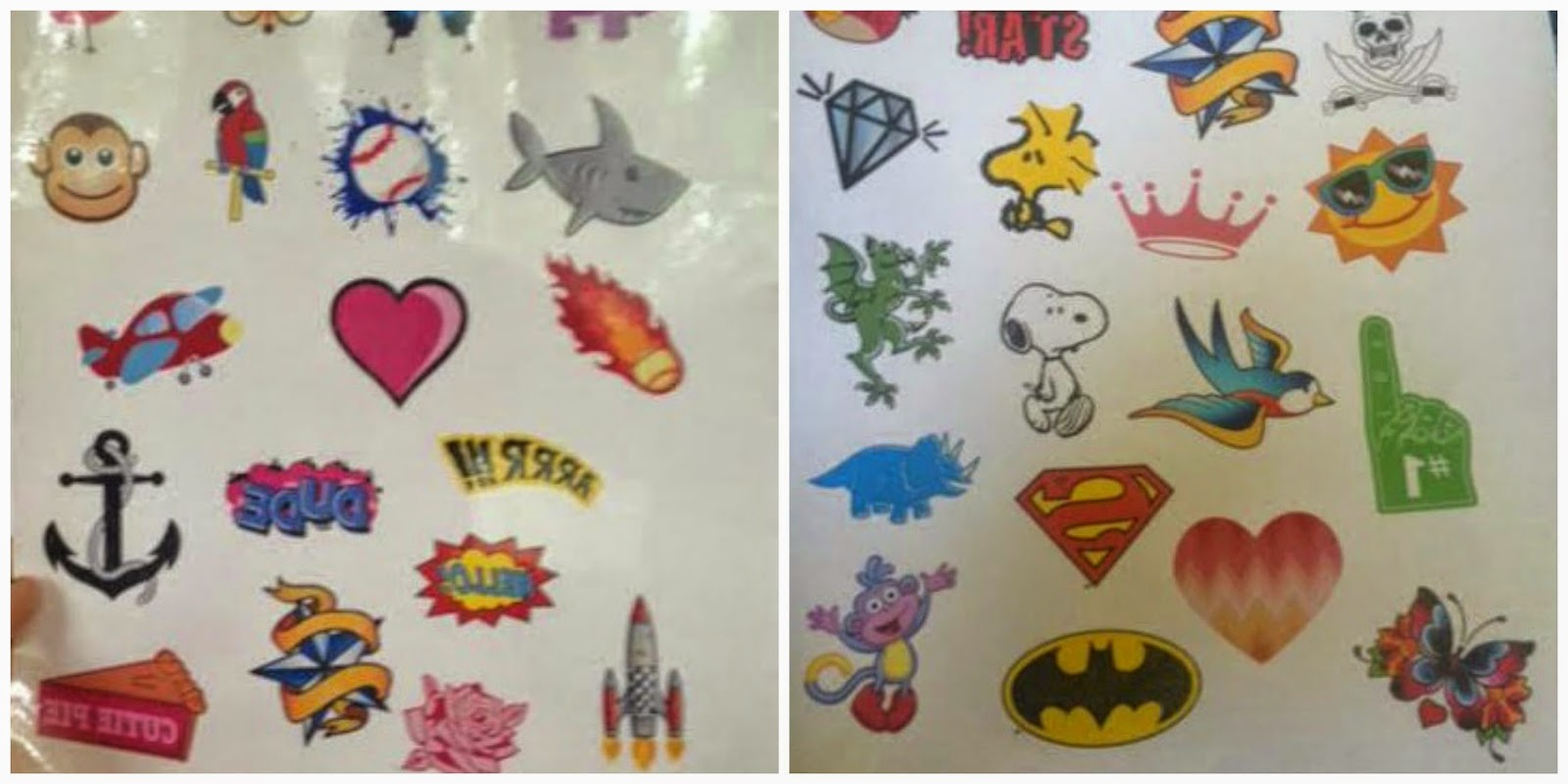 Top Notch Material: Sticker You Custom Tattoos, stickers and more