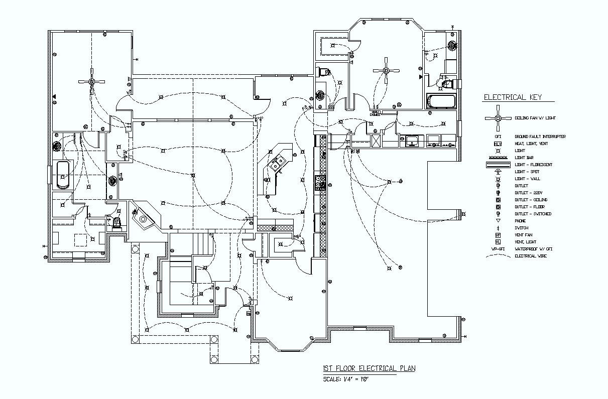 1st floor electrical plan elec eng world. Black Bedroom Furniture Sets. Home Design Ideas