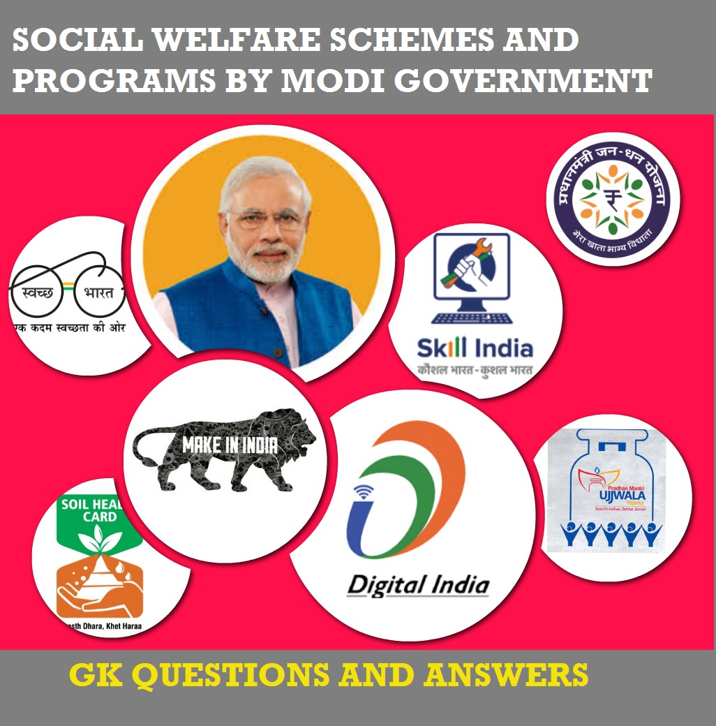 Modi Government Schemes and Programs-GK Questions and