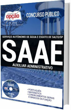 Apostila concurso SAAE Salto 2017 - Auxiliar Administrativo