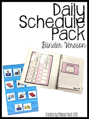 visual schedules for an autism classroom